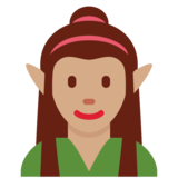 Woman Elf: Medium Skin Tone on Twitter Twemoji 2.7