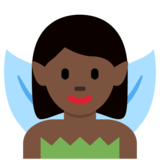 Woman Fairy: Dark Skin Tone on Twitter Twemoji 2.7