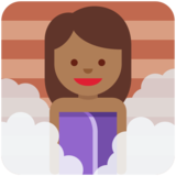 Woman in Steamy Room: Medium-Dark Skin Tone on Twitter Twemoji 2.7