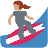Woman Surfing: Medium Skin Tone on Twitter Twemoji 2.7