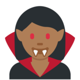 Woman Vampire: Medium-Dark Skin Tone on Twitter Twemoji 2.7