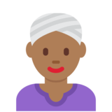 Woman Wearing Turban: Medium-Dark Skin Tone on Twitter Twemoji 2.7
