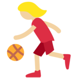 Woman Bouncing Ball: Medium-Light Skin Tone on Twitter Twemoji 2.7