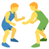 People Wrestling on Twitter Twemoji 2.7