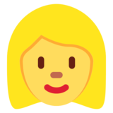 Woman: Blond Hair on Twitter Twemoji 11.0