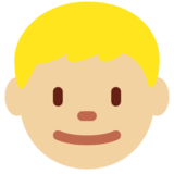 Boy: Medium-Light Skin Tone on Twitter Twemoji 11.0