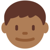 Boy: Medium-Dark Skin Tone on Twitter Twemoji 11.0