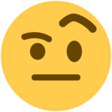 Face With Raised Eyebrow on Twitter Twemoji 11.0