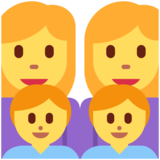 Family: Woman, Woman, Boy, Boy on Twitter Twemoji 11.0