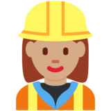 Woman Construction Worker: Medium Skin Tone on Twitter Twemoji 11.0
