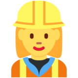 Woman Construction Worker on Twitter Twemoji 11.0