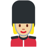 Woman Guard: Medium-Light Skin Tone on Twitter Twemoji 11.0
