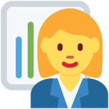 Woman Office Worker on Twitter Twemoji 11.0
