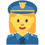Woman Police Officer on Twitter Twemoji 11.0