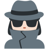 Woman Detective: Light Skin Tone on Twitter Twemoji 11.0