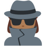 Woman Detective: Medium-Dark Skin Tone on Twitter Twemoji 11.0