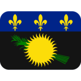 Flag: Guadeloupe on Twitter Twemoji 11.0
