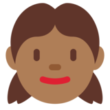 Girl: Medium-Dark Skin Tone on Twitter Twemoji 11.0