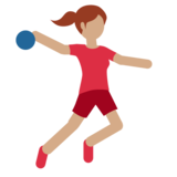Person Playing Handball: Medium Skin Tone on Twitter Twemoji 11.0