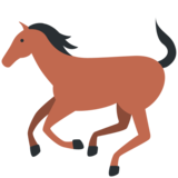 Horse on Twitter Twemoji 11.0