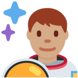 Man Astronaut: Medium Skin Tone on Twitter Twemoji 11.0