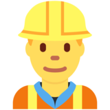 Man Construction Worker on Twitter Twemoji 11.0