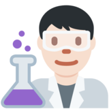 Man Scientist: Light Skin Tone on Twitter Twemoji 11.0