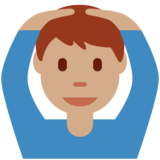 Man Gesturing OK: Medium Skin Tone on Twitter Twemoji 11.0