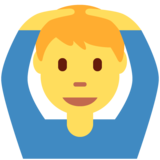 Man Gesturing OK on Twitter Twemoji 11.0