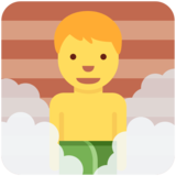 Man in Steamy Room on Twitter Twemoji 11.0