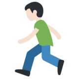 Man Running: Light Skin Tone on Twitter Twemoji 11.0