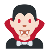 Man Vampire: Light Skin Tone on Twitter Twemoji 11.0
