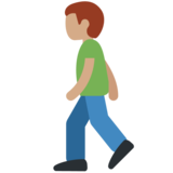 Man Walking: Medium Skin Tone on Twitter Twemoji 11.0