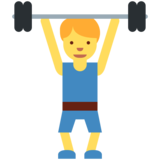 Man Lifting Weights on Twitter Twemoji 11.0