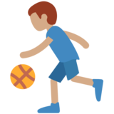 Man Bouncing Ball: Medium Skin Tone on Twitter Twemoji 11.0