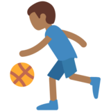 Man Bouncing Ball: Medium-Dark Skin Tone on Twitter Twemoji 11.0