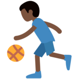 Man Bouncing Ball: Dark Skin Tone on Twitter Twemoji 11.0