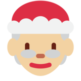 Mrs. Claus: Medium-Light Skin Tone on Twitter Twemoji 11.0