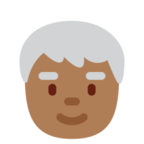Older Person: Medium-Dark Skin Tone on Twitter Twemoji 11.0