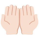 Palms Up Together: Light Skin Tone on Twitter Twemoji 11.0