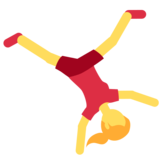 Person Cartwheeling on Twitter Twemoji 11.0