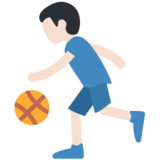 Person Bouncing Ball: Light Skin Tone on Twitter Twemoji 11.0