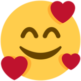 Smiling Face with Hearts on Twitter Twemoji 11.0