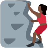 Woman Climbing: Dark Skin Tone on Twitter Twemoji 11.0