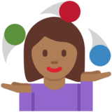 Woman Juggling: Medium-Dark Skin Tone on Twitter Twemoji 11.0