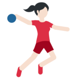 Woman Playing Handball: Light Skin Tone on Twitter Twemoji 11.0