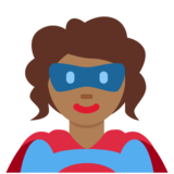 Woman Superhero: Medium-Dark Skin Tone on Twitter Twemoji 11.0