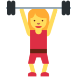 Woman Lifting Weights on Twitter Twemoji 11.0