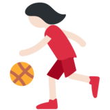 Woman Bouncing Ball: Light Skin Tone on Twitter Twemoji 11.0