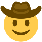 Cowboy Hat Face on Twitter Twemoji 11.1